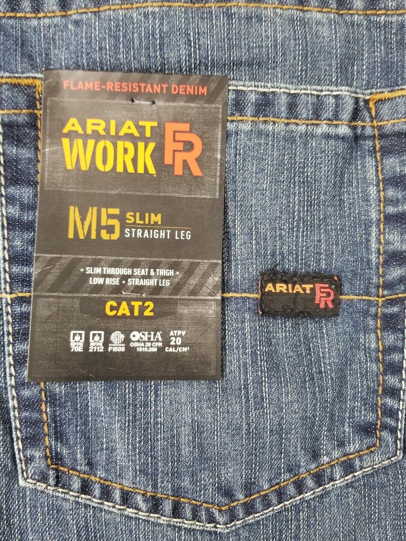 5fc76111 Ariat Western Denim Jeans Mens M5 Slim Straight 42 X 38 Clay ...