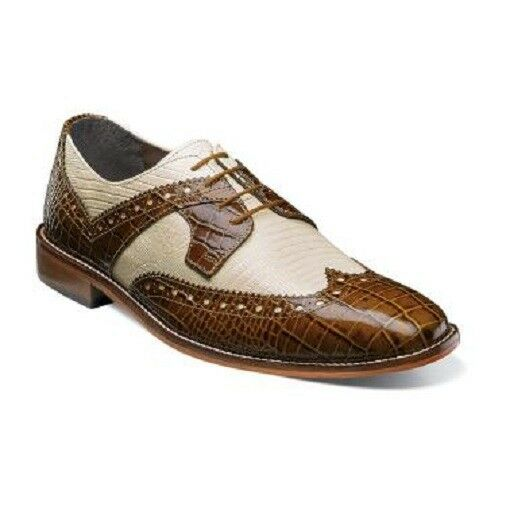 Men schuhe Stacy Adams Gusto Wingtip Oxford Mustard Multi Multi Multi Animal Print 25167-702 3864b7