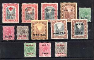 Bahamas-KGV-1917-1918-War-Tax-mint-MH-collection-WS19235