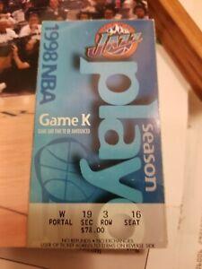 MICHAEL JORDAN 1998 NBA FINALS STUB TICKET Championship ...