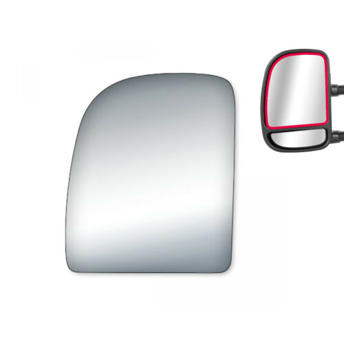 Replacement Upper Mirror Glass for Ford E150 E250 Econoline Driver Side Tow LH