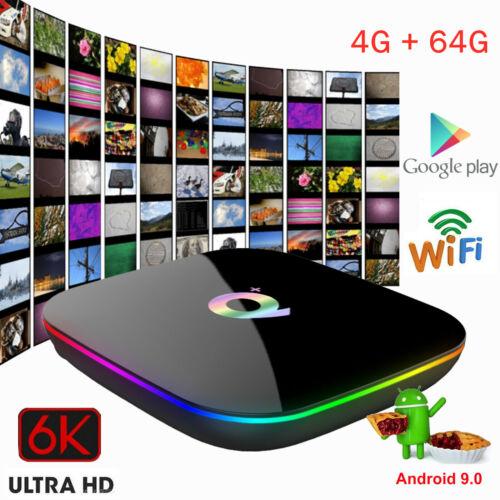 6K Q Plus Smart TV Box Android 9.0 Quadcore Media 4+64GB// 4+32GB// 2+16GB EU O1K5
