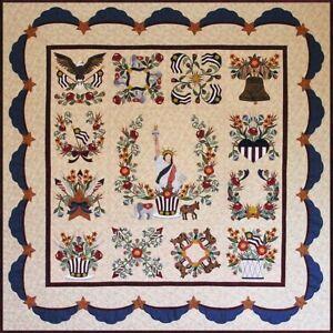 P3 Designs Baltimore Liberty Patriotic Bom Applique Quilt Pattern