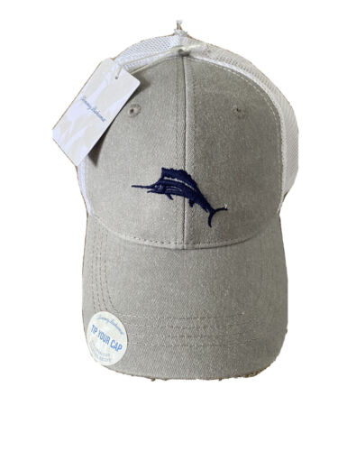 Tommy Bahama Cap Baja Margarita Hat Blue Marlin Grey