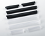 JAGUAR DOOR SCRATCH /& COLLISION PROTECTOR ANTI-RUB WHITE TRIM STRIPS SET