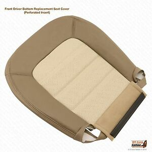 2003 2004 2005 ford explorer eddie bauer driver bottom leather seat cover in tan. Black Bedroom Furniture Sets. Home Design Ideas