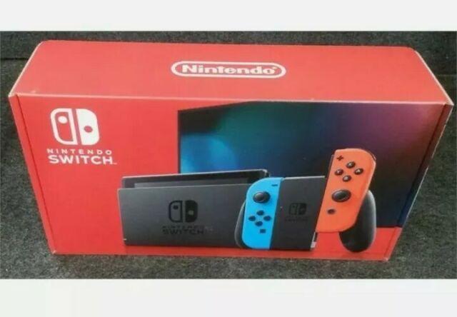 Nintendo Switch Video Game System Console Bundle w Neon Joycons READ