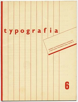 1938 Czech Advertising Design TYPOGRAFIA Avant-Garde Typography + Printing Journ