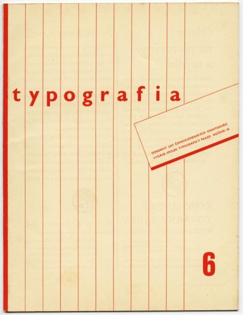 1938 Czech Advertising Design TYPOGRAFIA Avant-Garde Typography + Printing Journ