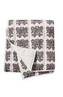 Nate Berkus Yarn Dyed Graphic Print Throw Blanket Gray / Soft White