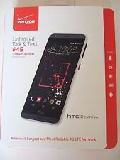 NEW Sealed pkg PREPAID VERIZON HTC Desire 530 16GB Smartphone Black 4G LTE