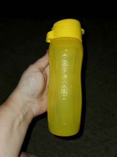 New TUPPERWARE Slim Eco Water Bottle SMALL 16 Oz YELLOW BPA Free FREE US SHIP