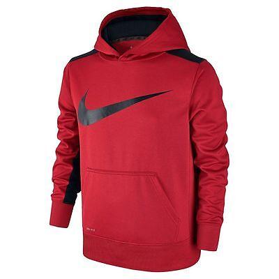 NWT Boys 8-20 Nike Therma-Fit KO Swoosh Hoodie Choose Size Black