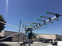 150++ Miles 360 Degree Digital Outdoor Tv Antenna Hd Vhf/uhf