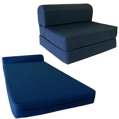 Navy Blue 6 x 36 x 70 Twin Sleeper Chair Folding Foam Bed, Foam Density 1.8  lbs 101138830764 | eBay
