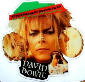 NEAR-MINT-David-Bowie-Underground-Shaped-Vinyl-Picture-Pic-Disc-from-Labyrinth