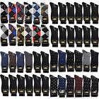 New Lords 12 Pairs Dozen Mens Dress Socks Fashion Multi Color Cotton Size 10-13