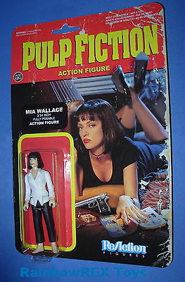 "Mia Wallace Uma Thurman Pulp Fiction 3 3//4/"" Reaction Retro Figure Funko 2014"
