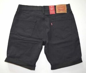 d42eb9e7 Image is loading Black-Levis-Men-039-s-511-Slim-Shorts-