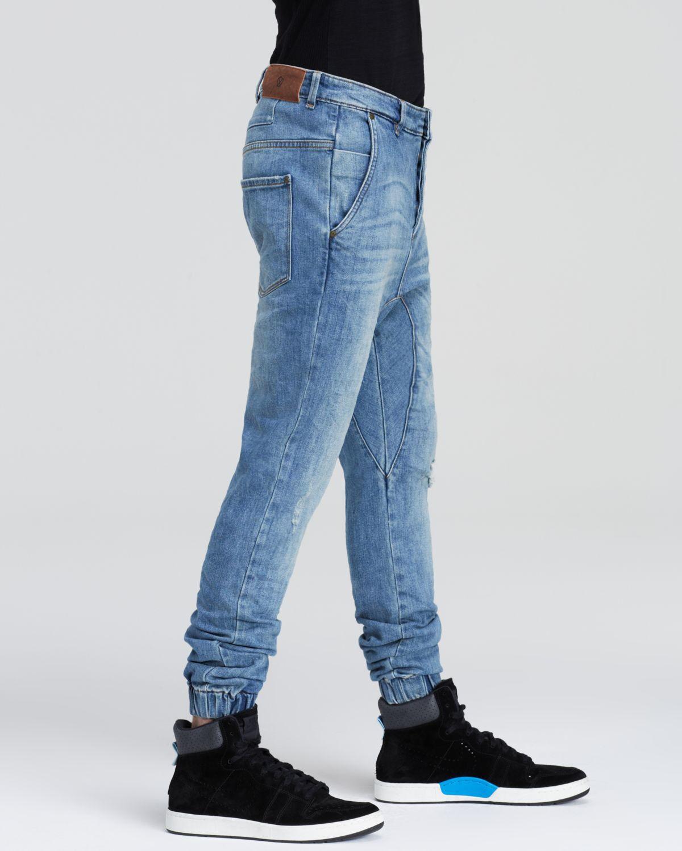 Zablackbe Men's Slingshot Denimo Jogger Jean, Size 30