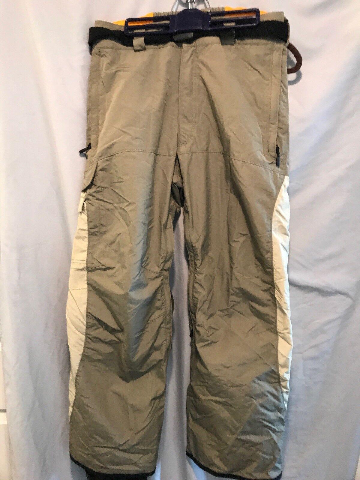 Columbia Convert Snow Board Ski Pants Khaki  Herren M Adjustable Ankle Length TS8