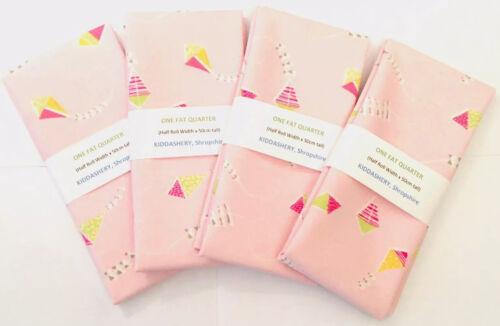 Kiddashery cometas para niños cuarto Gordo Tela Algodón 100/% Rosa FQ Craft