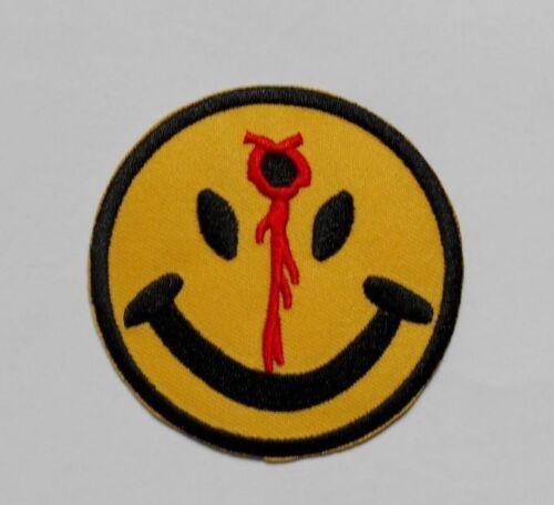 Ecusson patch smiley smile  émoticône tir shot balle