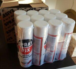 douze SPRAY FIX extramiante - Bombe aérosol 500ml adhesif colle multi usages