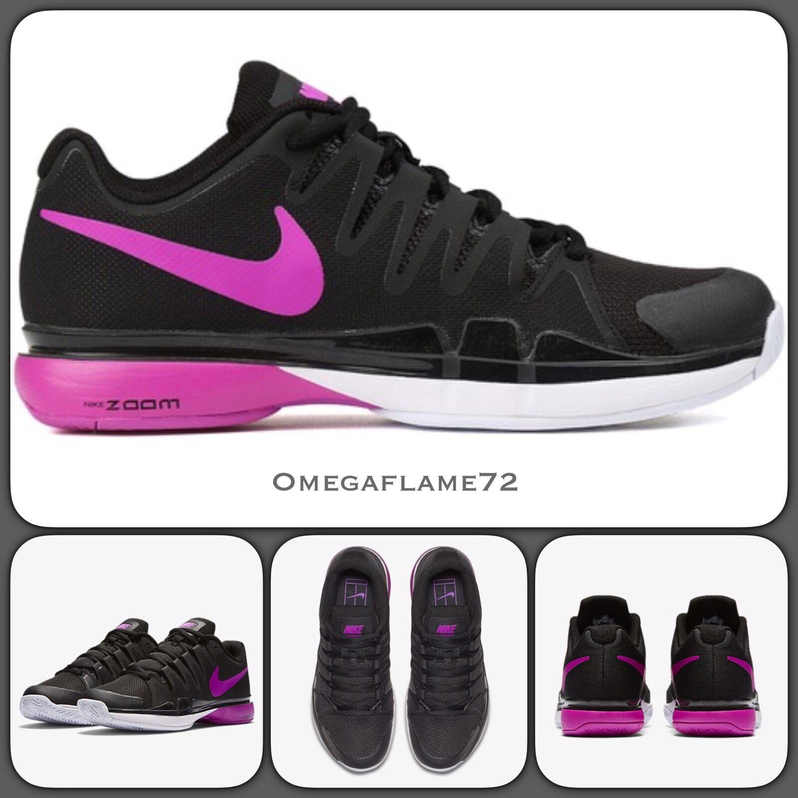 Nike Zoom Vapor 9.5 Tour QS 631475-002 USA 10 Federer Tennis Shoe