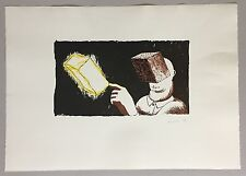 Dirk Larsen, Blind man's vision, Farblithographie, 1986, handsigniert und dat.