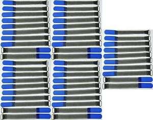 30 Kabelbinder Kabelklett 16 cm x 16 mm neon gelb FK Klettband Klettkabelbinder
