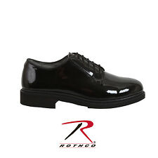 item 5 Rothco 5055 Uniform Hi-Gloss Oxford Dress Shoe - Black -Rothco 5055  Uniform Hi-Gloss Oxford Dress Shoe - Black e672cd94291