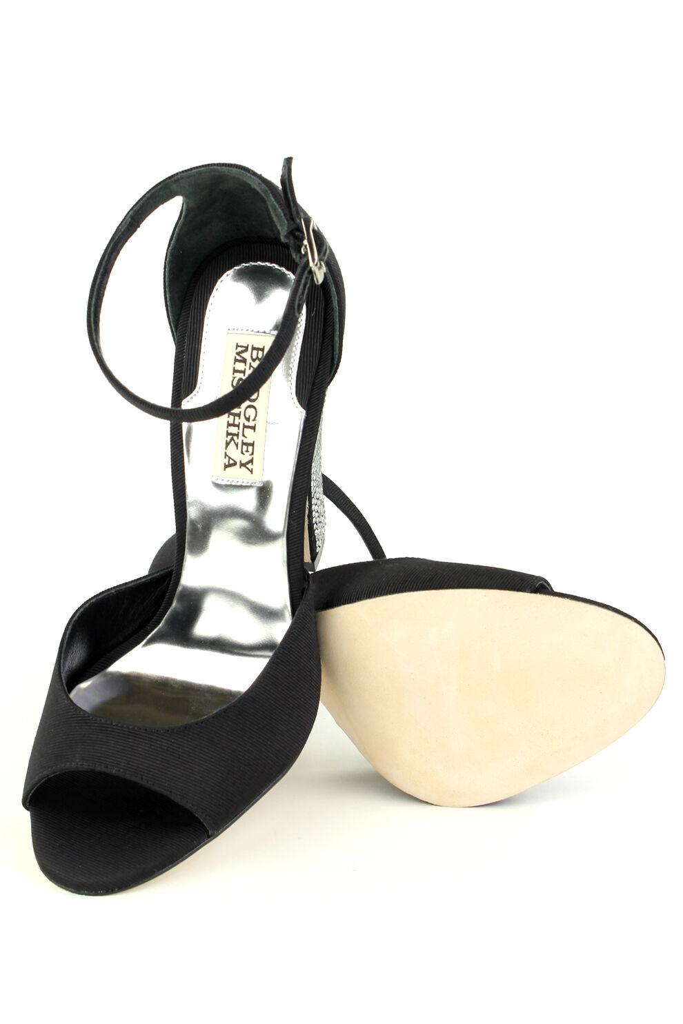 Badgley Badgley Badgley Mischka WYNTER Sandals in noir Brand New in Box Retail  245 Jeweled 6531cd