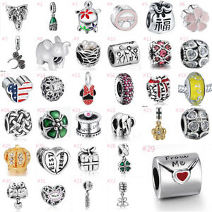 European-Silver-Charms-Dangle-Pendant-Beads-Fit-925-Sterling-Bracelet-Chain