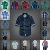 Abercrombie Kids Boys Flannel Denim Plaid Shirt Size S M L Xl Green Blue Red