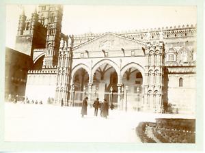 Italie, cathédrale de Palerme Vintage albumen print, Tirage albuminé  8x11