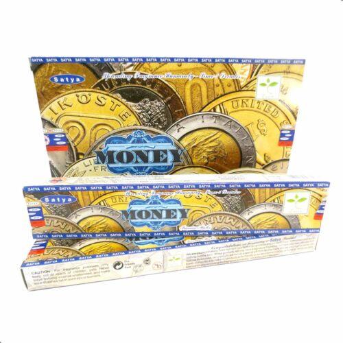 Satya MONEY BIG PACK 12 x 15g Räucherstäbchen Agarbathi
