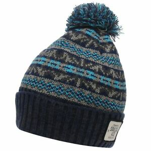 415a640afa9 Image is loading SoulCal-Mens-Dogoda-Bobble-Hat-Pattern-Winter