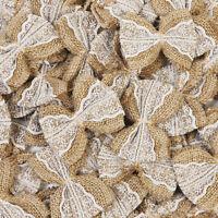 Hessian Burlap Lace Bows Embellishments Chic Christmas Tree Rustic Wedding Craft