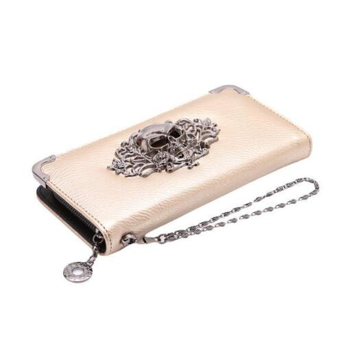 Womens Lady Zipper Long Design Bag Wallet Purse Female Clutch Skull Purses N7