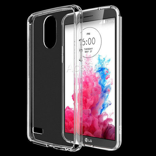 detailed look dd6b0 c50bf for T-mobile LG Stylo 3 Plus Tp450 Transparent Flexible Protective Silicone  Case