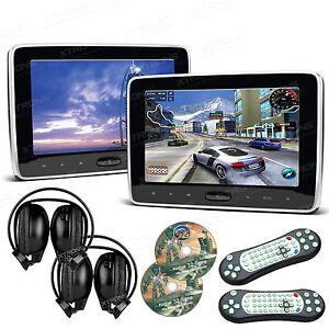 2x 10 1 zoll auto kopfst tze monitor dvd player 1024 600. Black Bedroom Furniture Sets. Home Design Ideas