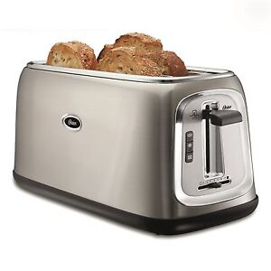 Oster® 4-Slice Long-Slot Toaster - Stainless Steel