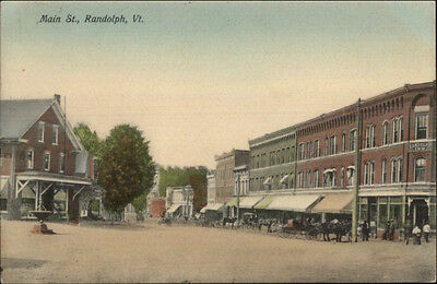 RANDOLPH VT - EARLY POSTCARD - MAIN STREET   eBay