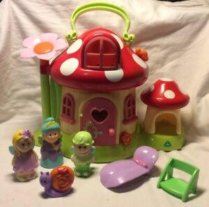 ELC HAPPYLAND Toadstool Fée maison avec sons et chiffres