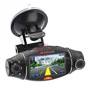 R310 Car DVR 270° Rotate Dual Lens Dash Camera GPS G-Sensor Recorder 2.7inch