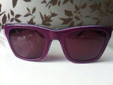 Lacoste Live Sunglasses Plastic Purple D Shape UV400 Mirrored Lenses RRP £100!