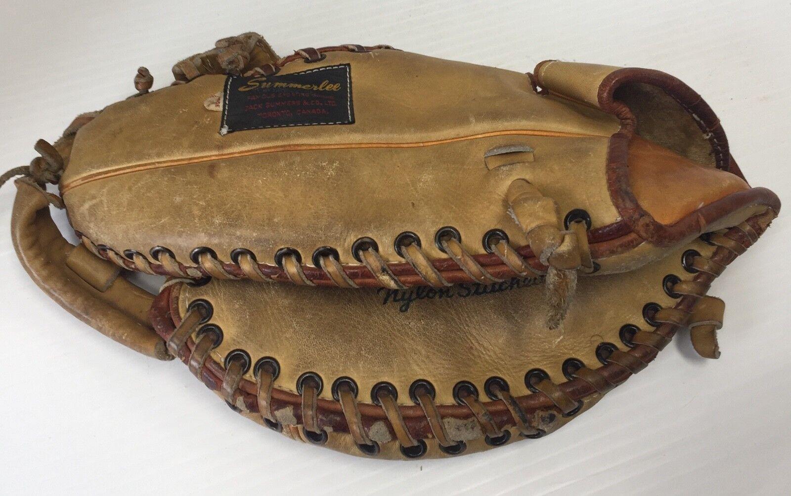 Modelo Vintage Summerlee base SW-285 pro primera base Summerlee Guante de béisbol LHT Cuero Marrón a804d5