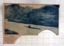 1927 Dutch Submarine K-xiii Passes Through The Gaillard Cut Panama Canal