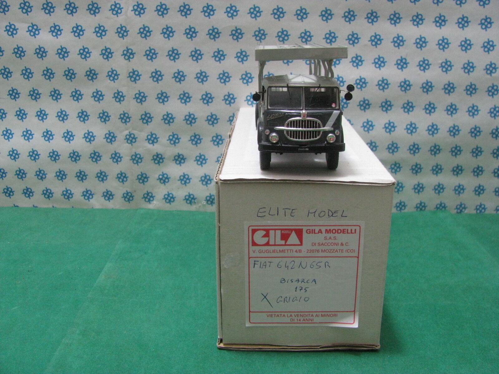 FIAT 642 N65R  Bisarca Porta auto  2 assi   - 1 43 Gila Modelli (Elite Models)